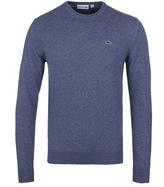 Lacoste Blue Marl New Wool Sweater