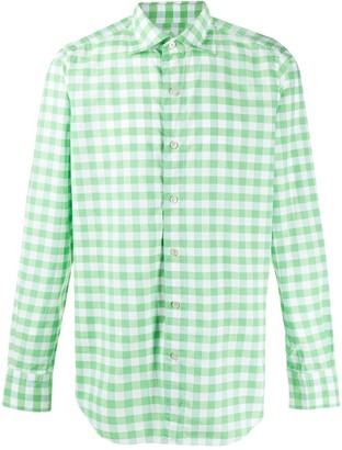 Finamore 1925 Napoli Gingham Check Shirt