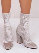 Windsor Smith Frost Crushed Velvet Vida Boots