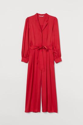 H&M Jumpsuit with Tie Belt - Red