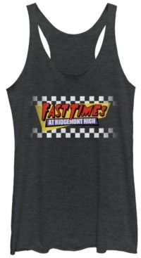 Fifth Sun Fast Times at Ridgemont High Faded Checker Logo Tri-Blend Racer Back Tank