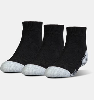 Under Armour Kids' UA HeatGear Tech Lo Cut Socks 3-Pack