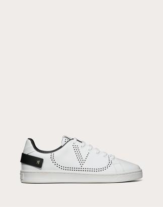 Valentino Backnet Calfskin Sneaker Women White/ Black 100% Pelle Di Vitello - Bos Taurus 35