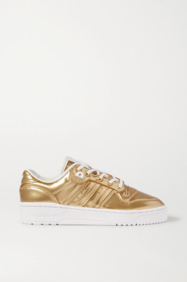 adidas Rivalry Low Metallic Coated-canvas Sneakers - Gold