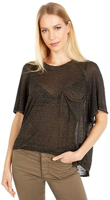 Free People Kyoto Tee (Black Combo) Women's Clothing