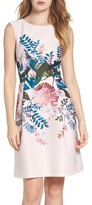 Adrianna Papell Women's Placed Print Fit & Flare Dress