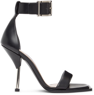 Alexander McQueen Black Double Strap Sandals