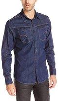 G Star Men's Arc 3D Long Sleeve Shirt Dark Blue