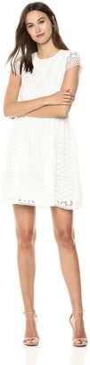 French Connection Women's Parker Short Sleeve Lace Dress