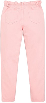Very Girls Paper Bag Waist Cropped Jeans - Pink