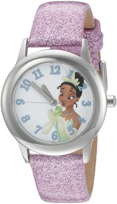 Disney Girl's 'Tiana' Quartz Stainless Steel and Leather Watch