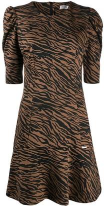 Liu Jo Tiger-Print Flounce Hem Dress