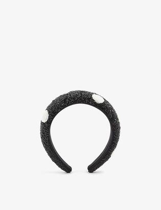 Ganni Embellished padded headband