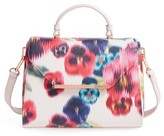 Ted Baker Expressive Pansy Faux Leather Top Handle Satchel - Pink