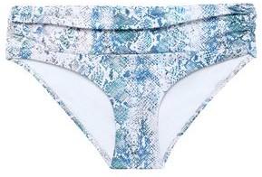 Melissa Odabash Bel Air Ruched Printed Mid-rise Bikini Briefs