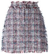 MSGM tweed straight skirt