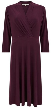 Nougat Canberra Cross Front Dress