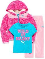 Puma Girls 3-pc. Long Sleeve Pant Set-Toddler