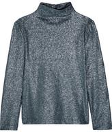 Cédric Charlier Glittered Stretch-jersey Top - Metallic