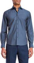 Toscano Honeycomb Print Sport Shirt
