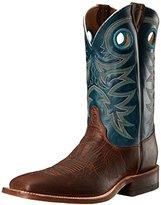 Justin Men's Bent Rail Rough Rider Cowboy Boot Square Toe - Br738