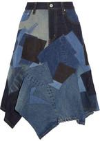 Junya Watanabe Patchwork Denim Skirt - Mid denim