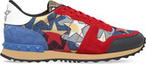 Valentino Rockrunner star-embellished denim trainers