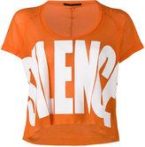 Haider Ackermann 'silence' printed t-shirt - women - Cotton/Nylon/Rayon - S