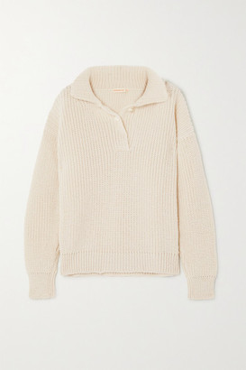 &Daughter Effie Ribbed Merino Wool Sweater - Cream
