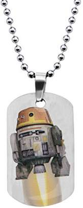 Star Wars Jewelry Boys' Rebel Chopper Dog Tag Chain Pendant Necklace