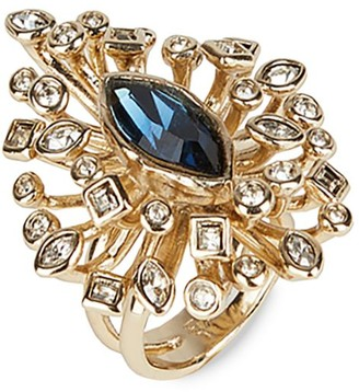 Alexis Bittar Navette Crystal Burst Cocktail Ring