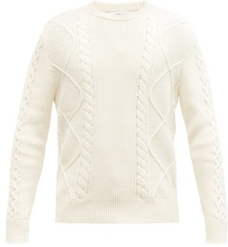 Frame Cable-knit Cotton-blend Sweater - Cream