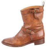 Belstaff Leather Moto Ankle Boots
