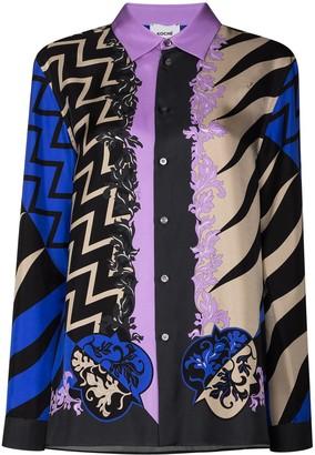 Emilio Pucci Graphic-Print Silk Shirt