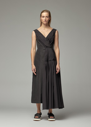 Marni Women's Pleated V-Neck Dress in Black Size 38