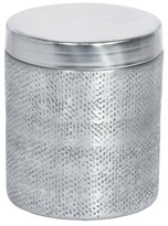 Threshold Hammered Texture Metal Canister with Lid