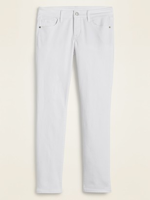 Old Navy Low-Rise Power Slim Straight White Jeans for Women