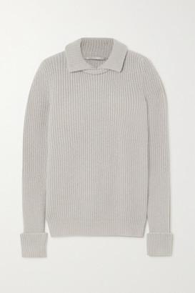 Stella McCartney Ribbed Wool-blend Sweater - Light gray