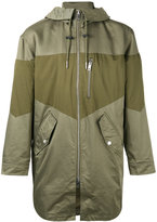 Diesel panelled military jacket - men - Cotton/Nylon/Polyamide/Polyester - S