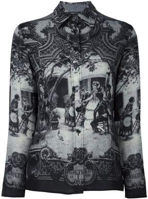 Jean Paul Gaultier Pre-Owned medieval print shirt