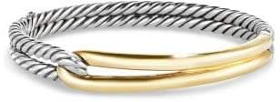 David Yurman Labyrinth Single-Loop Bracelet With 18K Gold, 10Mm