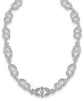 Carolee Necklace, Glass Stone Ornate Collar