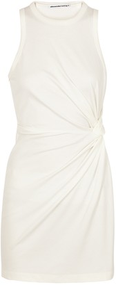 Alexander Wang Ivory knotted jersey mini dress
