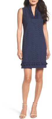 Brinker & Eliza Mandarin Collar Lace Shift Dress