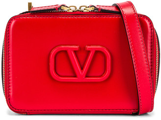 Valentino Small VSling Crossbody Bag in Rouge Pur | FWRD