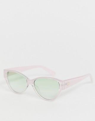 Le Specs Eureka cat eye sunglasses in pink