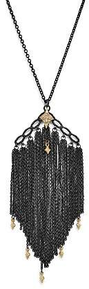 """Armenta 18K Yellow Gold & Sterling Silver Old World Cravelli Tassel Necklace with Champagne Diamonds, 28"""""""