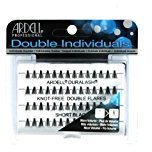Ardell (3 Pack Professional Double Individuals Knot-Free Double Flares - Short Black