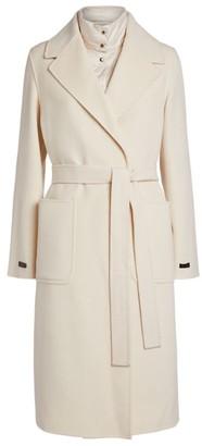 Peserico Wool-Cashmere Gilet-Insert Coat