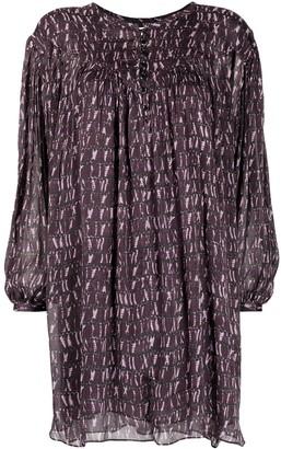 Etoile Isabel Marant Patterned Puff-Sleeve Dress
